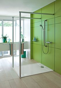 salle de bain tendance la douche l italienne habitations patenaude. Black Bedroom Furniture Sets. Home Design Ideas